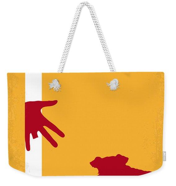 No452 My Kiss Kiss Bang Bang Minimal Movie Poster Weekender Tote Bag