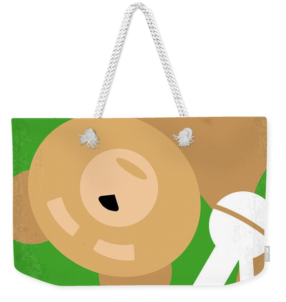 No519 My Ted Minimal Movie Poster Weekender Tote Bag