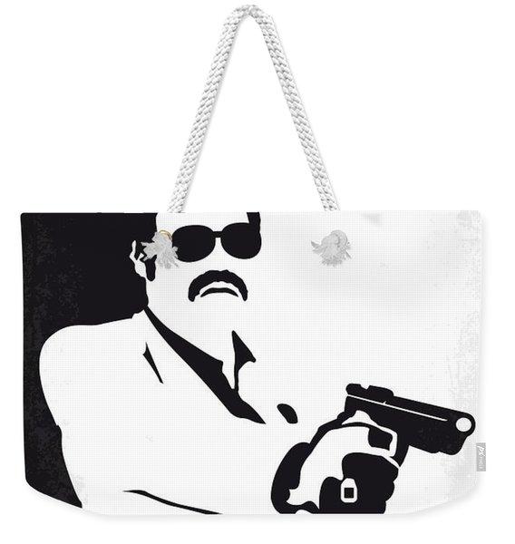 No526 My Medellin Minimal Movie Poster Weekender Tote Bag