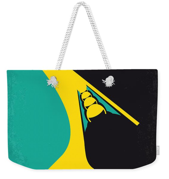 No538 My Cool Runnings Minimal Movie Poster Weekender Tote Bag