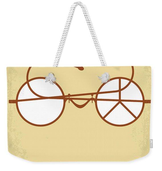 No543 My Gandhi Minimal Movie Poster Weekender Tote Bag