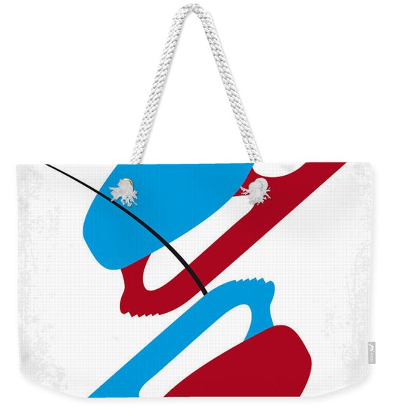 No562 My Blades Of Glory Minimal Movie Poster Weekender Tote Bag
