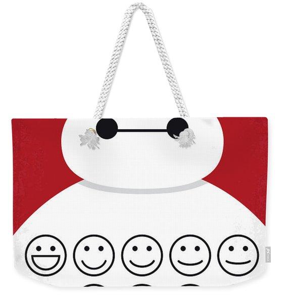 No649 My Big Hero 6 Minimal Movie Poster Weekender Tote Bag