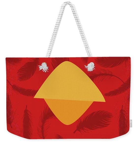 No658 My Angry Birds Movie Minimal Movie Poster Weekender Tote Bag