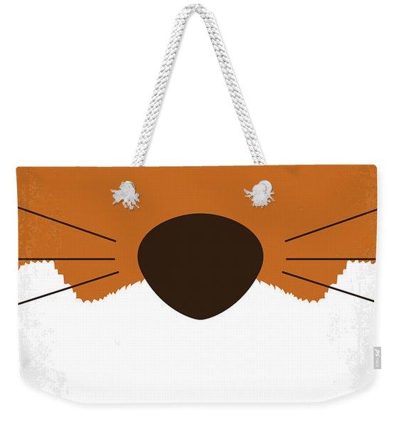 No673 My Fantastic Mr Fox Minimal Movie Poster Weekender Tote Bag