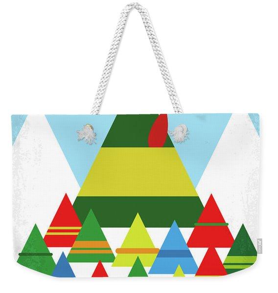 No699 My Elf Minimal Movie Poster Weekender Tote Bag