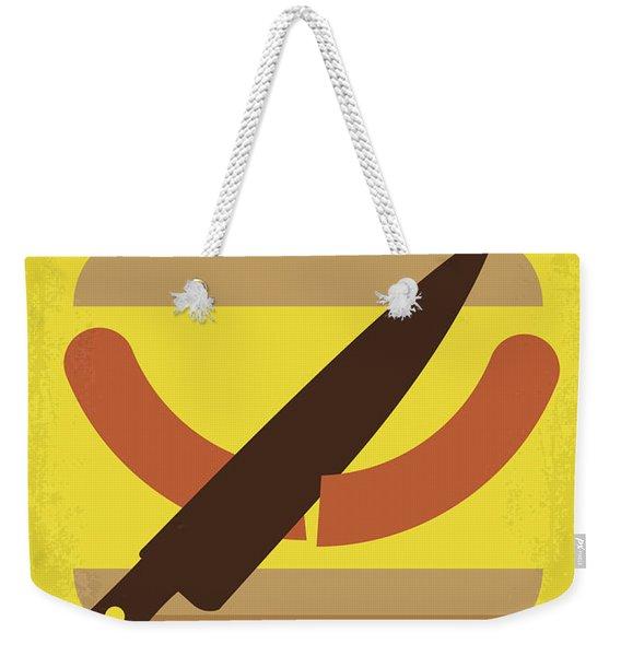 No704 My Sausage Party Minimal Movie Poster Weekender Tote Bag