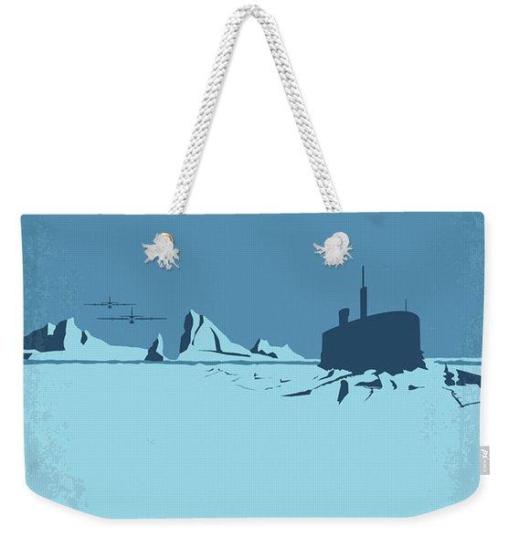 No711 My Ice Station Zebra Minimal Movie Poster Weekender Tote Bag