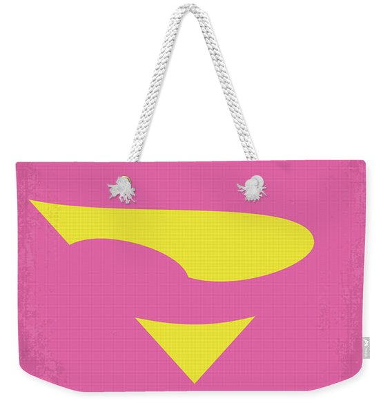 No720 My Supergirl Minimal Movie Poster Weekender Tote Bag