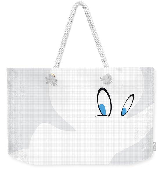 No752 My Casper Minimal Movie Poster Weekender Tote Bag
