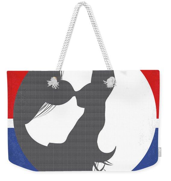 No755 My Jackie Minimal Movie Poster Weekender Tote Bag