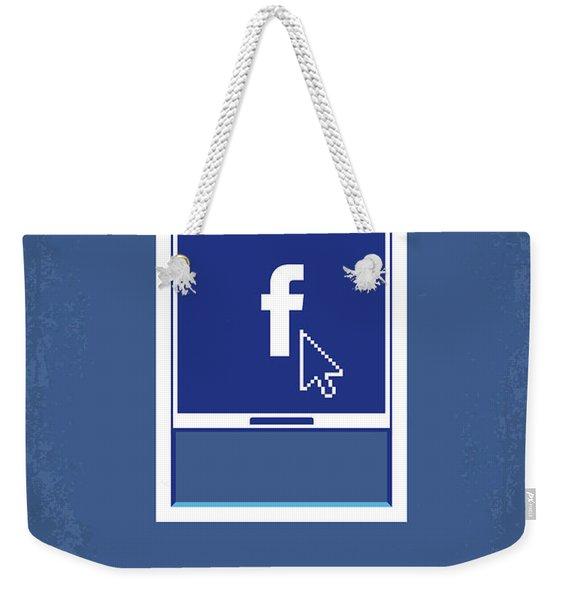 No779 My The Social Network Minimal Movie Poster Weekender Tote Bag