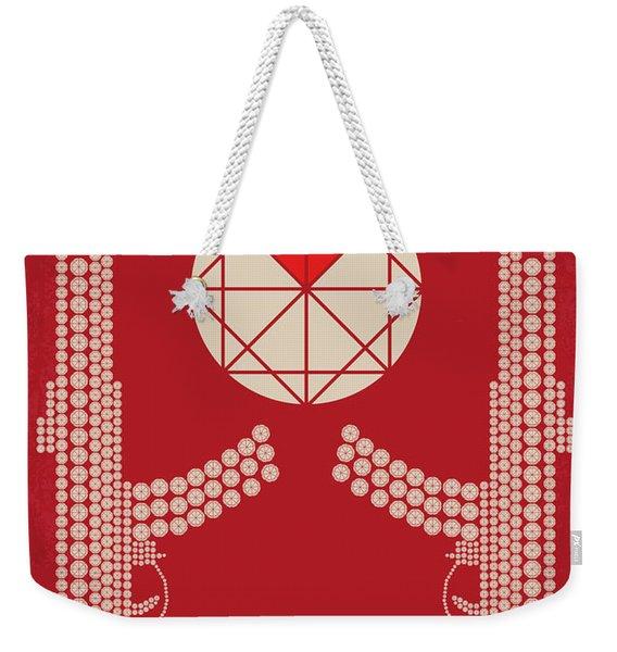 No833 My Blood Diamond Minimal Movie Poster Weekender Tote Bag