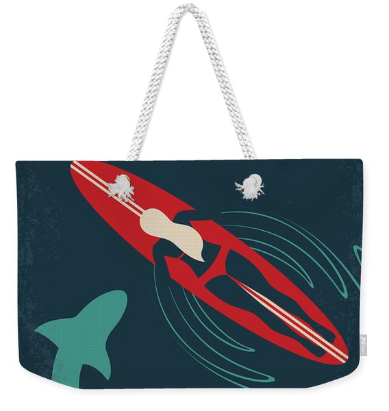 No836 My The Shallows Minimal Movie Poster Weekender Tote Bag