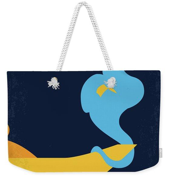 No920 My Aladdin Minimal Movie Poster Weekender Tote Bag