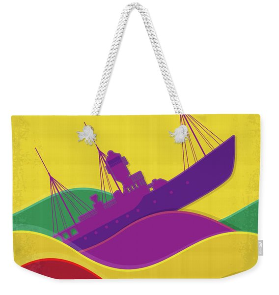 No961 My The Boat That Rocked Minimal Movie Poster Weekender Tote Bag