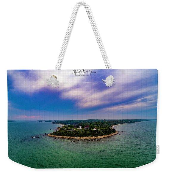 Nobska Lighthouse Panorama Weekender Tote Bag