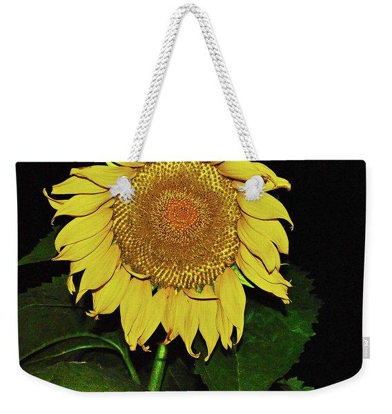 Noctural Sunflower Power Weekender Tote Bag