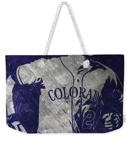 Nolan Arenado Colorado Rockies Art Weekender Tote Bag