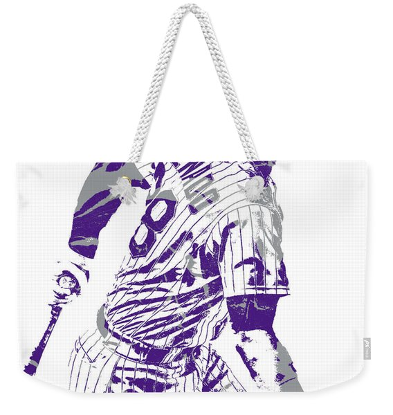 Nolan Arenado Colorado Rockies Pixel Art 11 Weekender Tote Bag