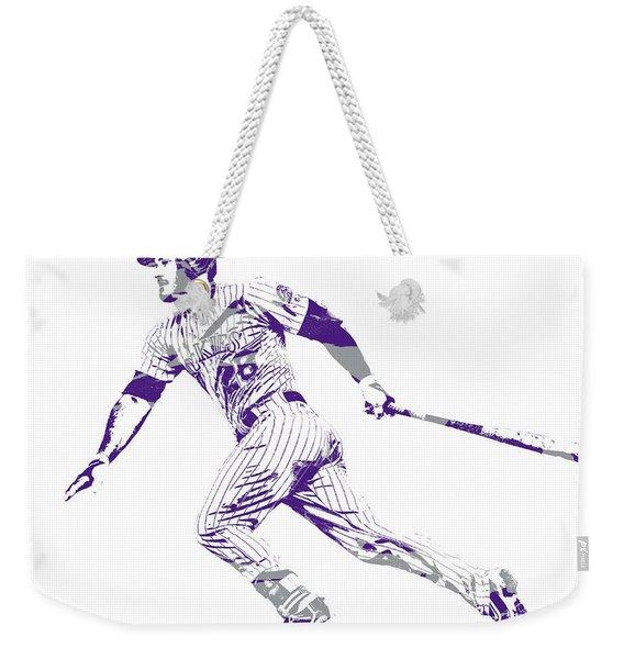 Nolan Arenado Colorado Rockies Pixel Art 12 Weekender Tote Bag