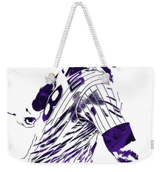 Nolan Arenado Colorado Rockies Pixel Art 3 Weekender Tote Bag