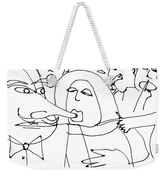 Noonie's Obsession With Guillame's Nose Disgusted The Other Patrons Weekender Tote Bag