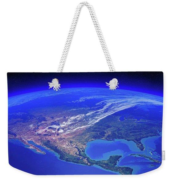 North America Seen From Space Weekender Tote Bag