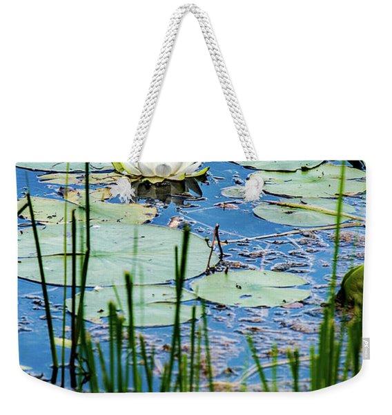 North American White Water Lily Weekender Tote Bag