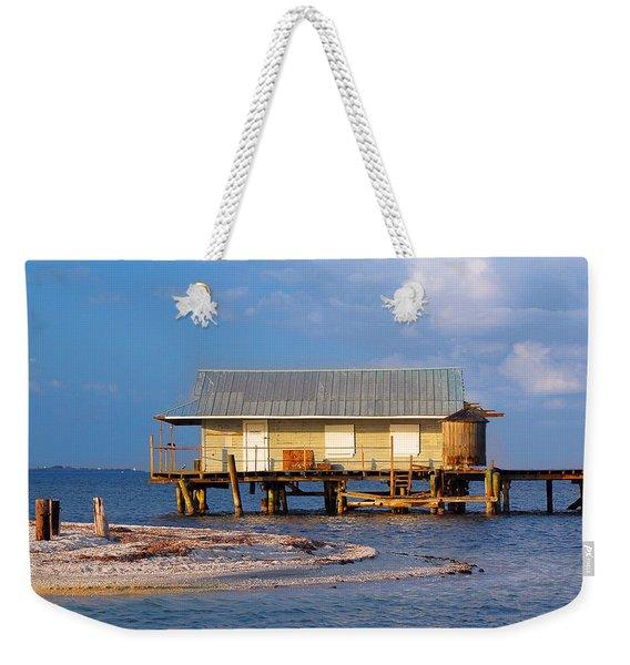 North Captiva Island Last Stilt House Standing Weekender Tote Bag