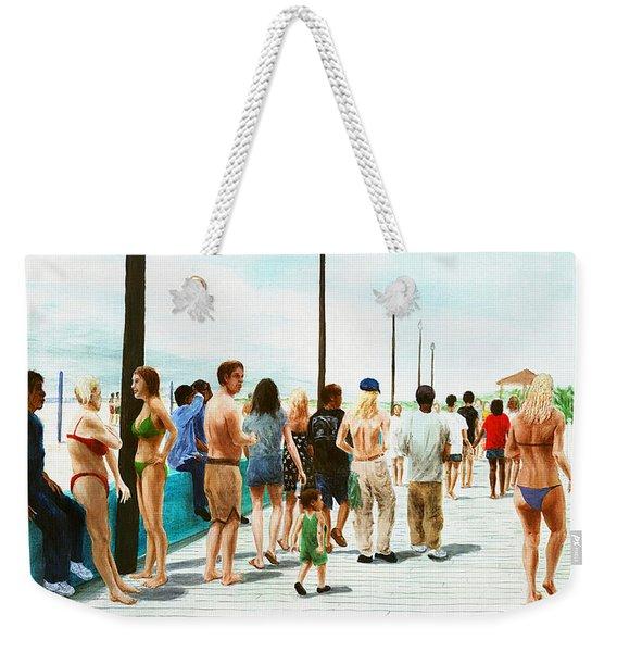 North Carolina Atlantic Beach Boardwalk Digital Art Weekender Tote Bag