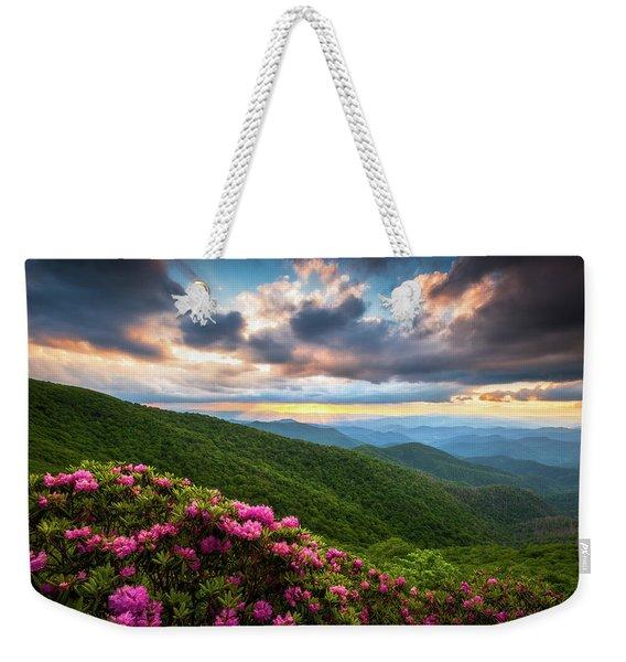North Carolina Blue Ridge Parkway Scenic Landscape Asheville Nc Weekender Tote Bag