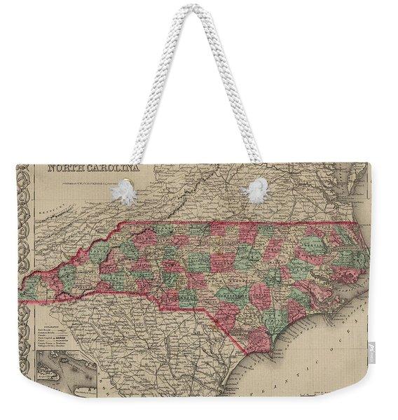 North Carolina Weekender Tote Bag