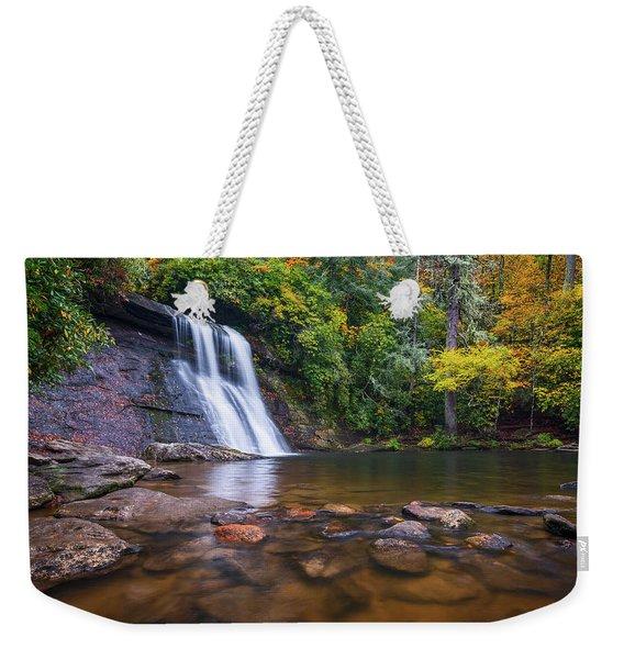 North Carolina Nature Landscape Silver Run Falls Waterfall Photography Weekender Tote Bag