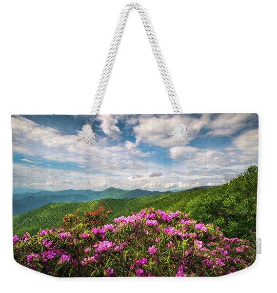 North Carolina Spring Flowers Mountain Landscape Blue Ridge Parkway Asheville Nc Weekender Tote Bag