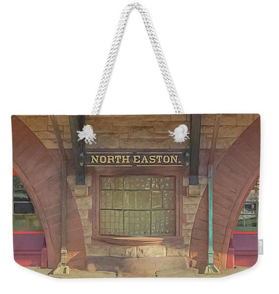 North Easton Train Station At Solstice Weekender Tote Bag