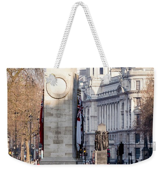 North Facade Of Cenotaph War Memorial Whitehall London Weekender Tote Bag