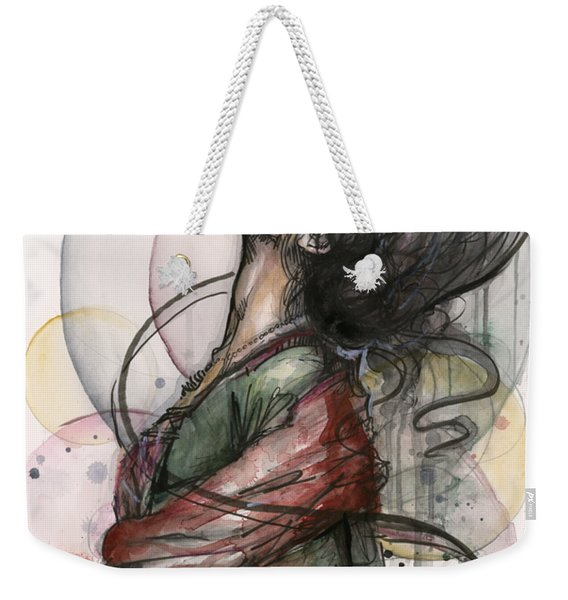 Beautiful Lady Weekender Tote Bag