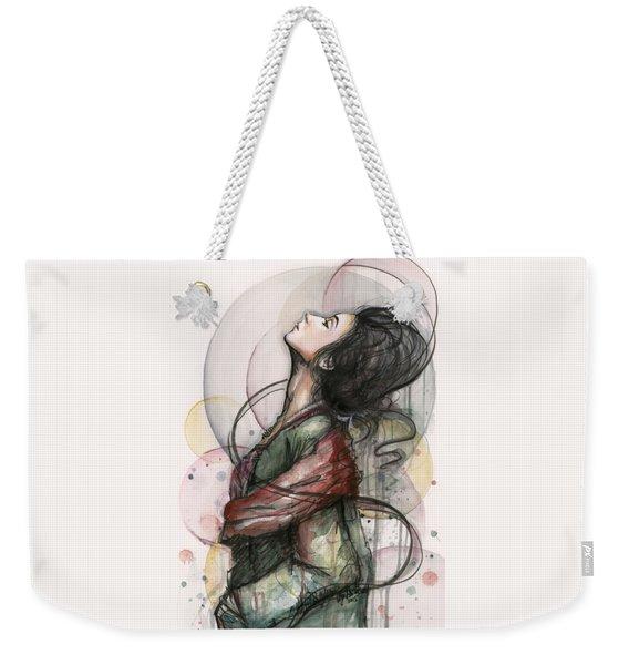 Beautiful Lady Weekender Tote Bag