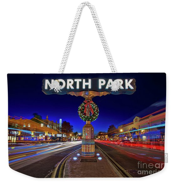 Weekender Tote Bag featuring the photograph North Park Christmas Rush Hour by Sam Antonio Photography