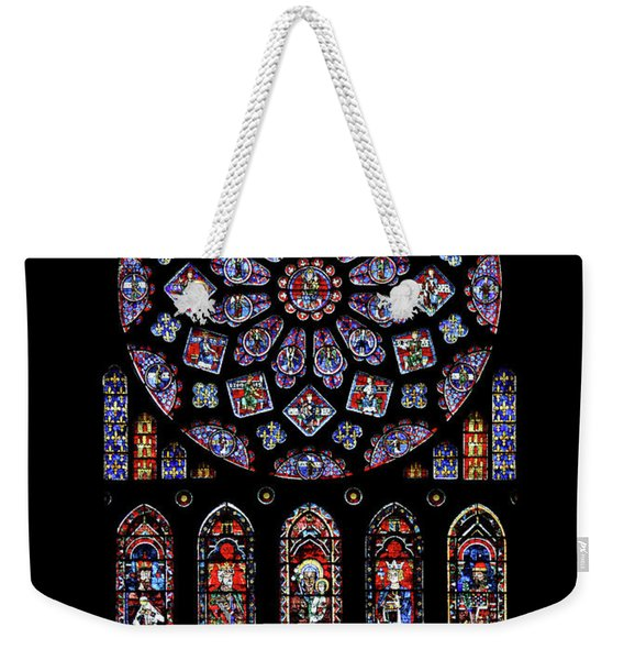 North Rose Window Of Chartres Cathedral Weekender Tote Bag