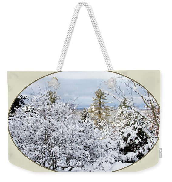 northeast USA photography button Weekender Tote Bag
