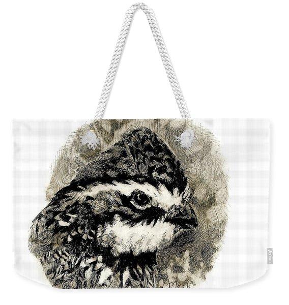 Northern Bobwhite Weekender Tote Bag