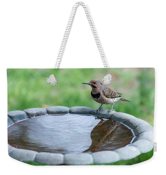 Northern Flicker Reflection New Jersey Weekender Tote Bag