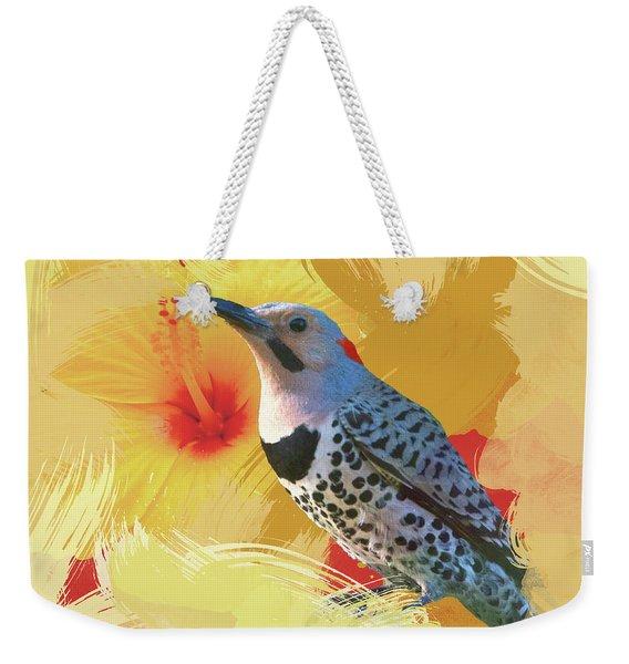 Northern Flicker Watercolor Photo Weekender Tote Bag