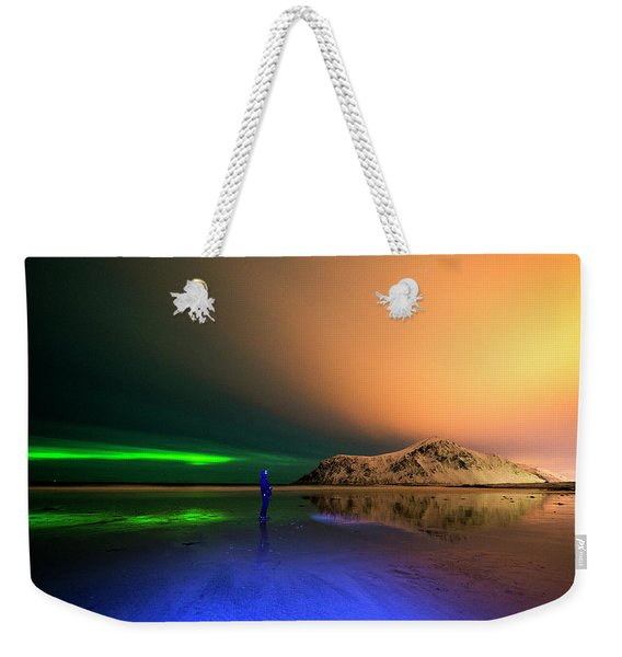Northern Light In Lofoten, Nordland 4 Weekender Tote Bag