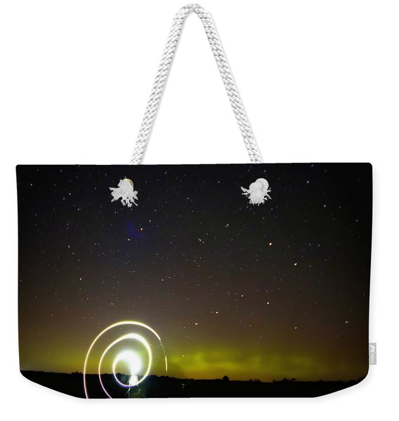023 - Night Writing Weekender Tote Bag