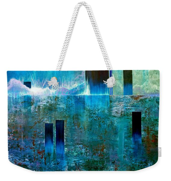 Northern Lights Rising Weekender Tote Bag