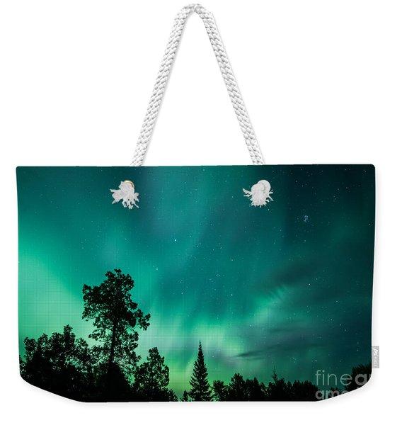 Northern Lights Tonight Weekender Tote Bag