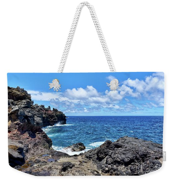 Northern Maui Rocky Coastline Weekender Tote Bag